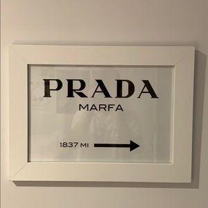 Other - Framed PRADA Marta wall art